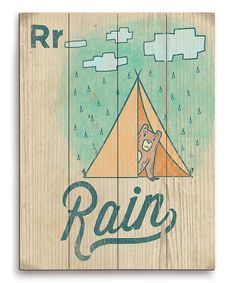Look at this #zulilyfind! R Is for Rain Wall Art by Image Canvas #zulilyfinds