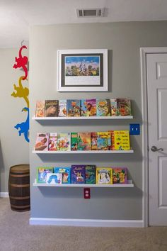 Nursery Bookshelves from Ikea