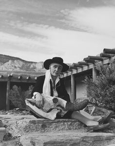 Philippe Halsman - Georgia O'Keeffe, Abiquiu, N.M, 1948
