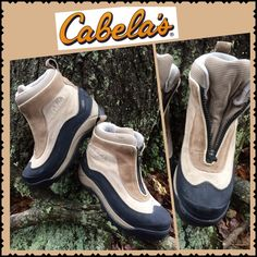 "Cabela's Shorty BOOTS 💥HP💥 Chosen by @plump_petunia‼️......CABELA's Ladies 'Shorty' Boots..Good Pre-Loved Condition!!!..Genuine Suede Uppers and Rubberized RUGGED Bottoms/Soles...Insulated with THINSULATE..Keepin' those ""Tootsie's"" WARM for SURE!!!..Too BIG for ME...My LOSS is YOUR Gain!!!....PLEASE NOTE...the SUEDE on the Uppers could use a Good Cleaning!!!......NO TRADES!! CABELLA'S Shoes"