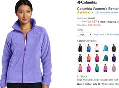 Great sale! Buy them before the cold weather comes. Columbia Fleece Benton Jacket on sale