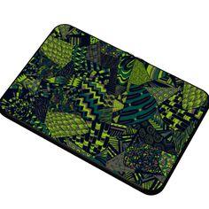 #Retalhosverde by #zansky #@The Citrus Report,  #citrusreport , #alloverprint , #laptop #laptopcase #macbook #macbookpro , #patterns , #green , #shapes , #abstract