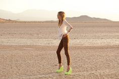 i would absolutely wear leopard pants and neon wedges