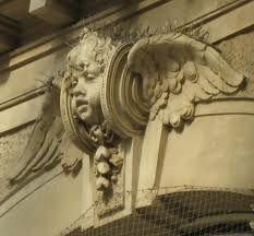 Porten Door sculpture - The eternally watchful and young angel.