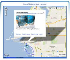 Map of Fishing Boat Harbour, Fremantle, Western Australia Palmyra, West End, The Visitors, Western Australia, Fishing Boats, Maps, Map, Peta, Cards
