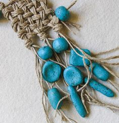 Turquoise Ethno Tribal Hand Woven Necklace от totalhandmadeD