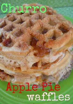 Churro Apple Pie Waffles... yup, i'm doing this g;uten free style for sure!