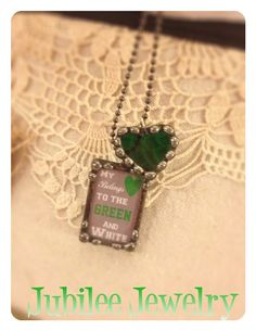 Marshall University Heart Green and White by jubileejewelry1, $30.00