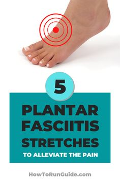 Is plantar fasciitis pain ruining your running? Try these 5 plantar fasciitis stretches to alleviate the pain. Running Injuries, Running Workouts, Running Tips, Fun Workouts, Race Training, Training Plan, Plantar Fasciitis Stretches, Stretches For Runners, Running Techniques