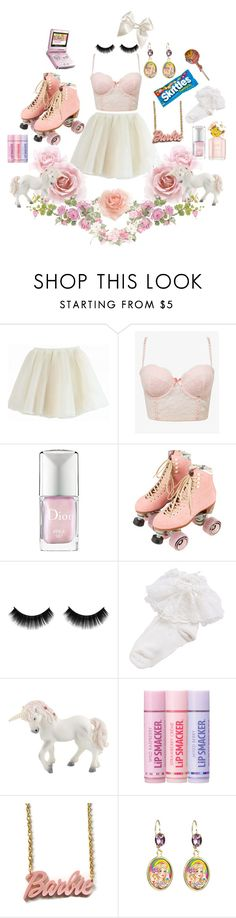 """Pink lil' Baby, Fastest In The Race"" by ashleeritson ❤ liked on Polyvore featuring Forever 21, Christian Dior, Moxi, Bonne Bell, Tarina Tarantino, Monsoon, Nintendo and Chupa Chups"