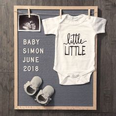 Pregnancy announcement, pregnancy reveal, announcement for pregnancy, letter board announcement // #littlefacesapparel