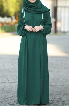 Robe Lace Dress – Daily Posts for Women Hijab Style Dress, Modest Fashion Hijab, Abaya Fashion, Muslim Fashion, Fashion Outfits, Estilo Abaya, Abaya Mode, Hijab Stile, Modele Hijab
