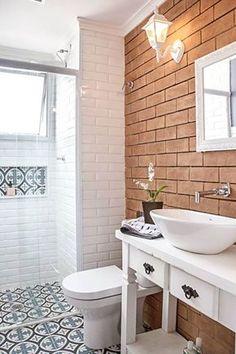 10 banheiros e lavabos pequenos - Reciclar e Decorar Mais