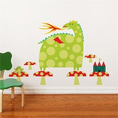@Rosenberry Rooms is offering $20 OFF your purchase! Share the news and save!  Dragon and Castle Wall Decal #rosenberryrooms