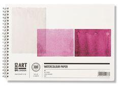 beautiful pinks for watercolor paper pads http://www.cassart.co.uk/ genius design by www.pentagram.com