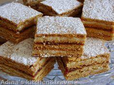 Prajitura mimoza sau prajitura albinita, Re? Honey Recipes, Sweets Recipes, Cookie Recipes, Romanian Desserts, Romanian Food, Romanian Recipes, French Desserts, Just Desserts, Russian Cakes