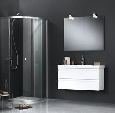 Nice combination of Dansani UNIQ shower enclosure and Dansani Zaro furniture.