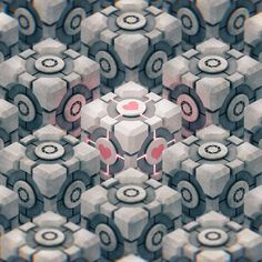 Portal Cubes by on DeviantArt Portal Wallpaper, Hd Wallpaper, Geometric 3d, Geometric Wallpaper, Aperture Science, I Love Games, You Monster, 3d Pattern, Latest Wallpapers