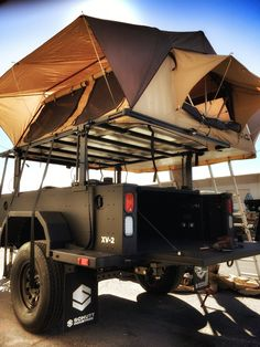 Xventure XV2 overland military grade trailer with a CVT rooftop tent - Mt. Adams. Lots of room!