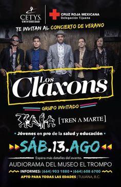 LOS CLAXONS por nuestra ciudad el próximo sábado 13 de agosto junto a TREN A MARTE.  Les gusta la música de esta agrupación pop?