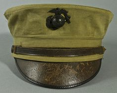 U.S. Marine Corps M-1912 Enlisted Dress Cap with Khaki Cover ....