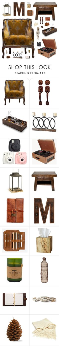 """How to style old chairs: #1"" by belenloperfido on Polyvore featuring interior, interiors, interior design, home, home decor, interior decorating, Crosley, Patricia Nash, Privilege and Selamat Designs"