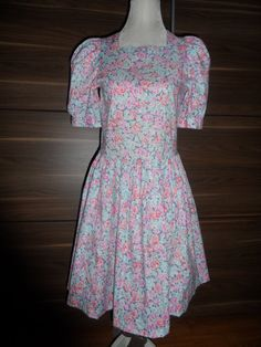 Vintage Laura Ashley dress  floral  1980's  size by empireantiques, £35.00