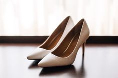 28 Beauteous - Breathtaking Wedding Photography Ideas : Fetching pair of womens brown pointed toe pumps on board Bride Shoes, Wedding Shoes, Wedding Night Lingerie, Pointed Toe Pumps, Looking Gorgeous, Beautiful, Classic White, Outfit Of The Day, Marie