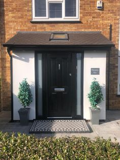 Breathing new life into PVC front door with a respray. Book an appointment with . - Breathing new life into PVC front door with a respray. Book an appointment with us today and see ho - Doors, Porch Extension, House With Porch, House Entrance, Porch Kits, Pvc Front Doors, Front Door Porch, Building A Porch, Porch Design