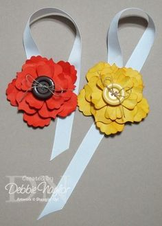 Fun flower bookmarks