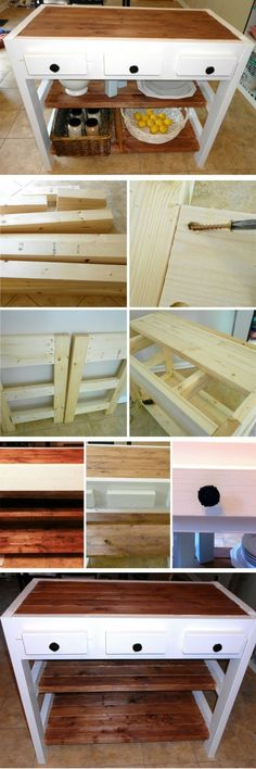 Check out the tutorial on how to build a DIY kitchen island from 2x4s @istandarddesign