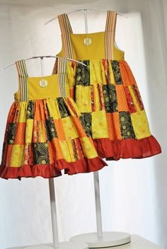 Harvest Girls Dress Ready to ship sz 2t -6yr   By Outtahand on Etsy