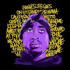 Fans across the globe honored Tupac Shakur's legacy with vibrant drawings and stencils of the late rapper on the nineteenth anniversary of his passing. Arte Hip Hop, Hip Hop Art, 2pac Wallpaper, Tupac Art, Famous Legends, Rick And Morty Poster, Rapper Art, Tupac Shakur, Original Artwork