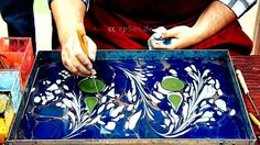 Free video about marbling art on water. This free video was created for you by http://epsos.de and can be re-used for free, under the creative commons licens...