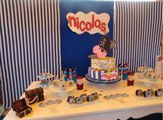 Mesa decorativa de George Pirata #NicolásMerrys Birthay #GeorgePirata