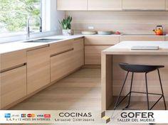 Completa tu hogar con una HERMOSA COCINA hecha a medida.  Aprovecha el método de pago con tarjeta 💳 y elige a 3,6 y 12 meses SIN INTERESES! ! Con nosotros tu cocina se hará realidad. Llámanos! Cotización inicial GRATIS. 📞8 16 65 40 📱22 81 26 64 16 #AmueblandoTuVida #Cocicnas #Gofer #Taller #Carpintería #Fabricamos #Diseño #Arquitectura #Mobiliario #Hogar