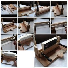 Make your own wooden perfect binding machine.