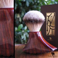 Marfin Hand Made Silvertip Badger Shaving Brush - Unique...one of a kind...ultra luxury shave brush - via: @RazoRock Joe - Wet Shaving Wetshaving
