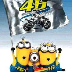 Valentino Rossi supporting minions!