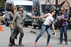"Rebecca, Sean and Lana - Behind the scenes - 5 * 1 ""Dark Swan"" 17 July 2015"
