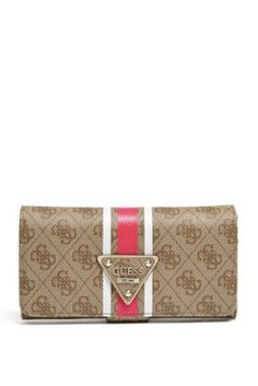 Logo Sport Brown File Clutch | GUESS.com