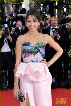 Freida Pinto. Palais des Festivals on Wednesday (May 16) in Cannes