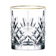 Features:  -Comes with gold band design.  -Gold accent decor for a splash of elegance.  -Siena collection.  Product Type: -Drinkware set/Old Fashioned glass.  Capacity: -9 Ounces.  Color: -Clear.  Ser