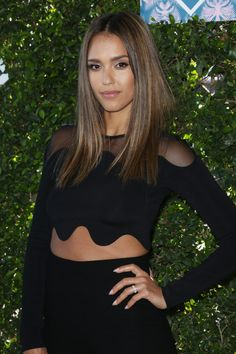 Jessica Alba's poker-straight hair proves there's no quicker good hair-guarantee than a flat iron.
