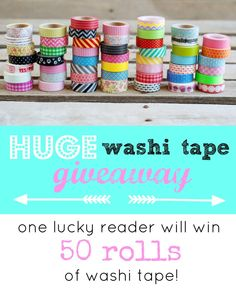Washi tape giveaway closed but great deals on washi $1.99/roll!