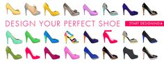 Shoes of Prey lets your choose the leathers, heel, toe & back with millions of options. #ad