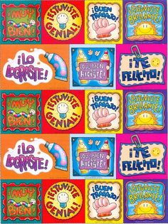 Hija del Rey: revistas figura 7 Award Template, Teacher Stickers, Cute Frames, Classroom Language, 1st Day, Teacher Hacks, School Hacks, School Supplies, Art For Kids