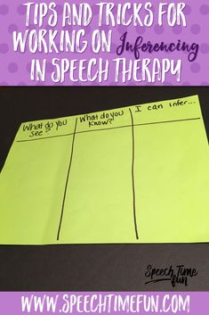 Tips and tricks for working on inferencing in speech therapy - help your older students boost their critical thinking skills and build confidence too! freebies included