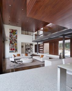 Image 16 of 24 from gallery of OZ House / Swatt   Miers Architects. Photograph by Tim Griffith