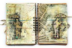 Art Journaling / Time Travellers by Finnabair